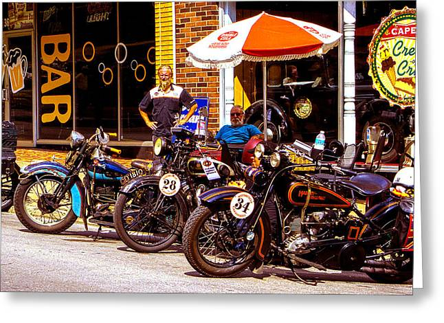 Cannonball Motorcycle Colors Greeting Card