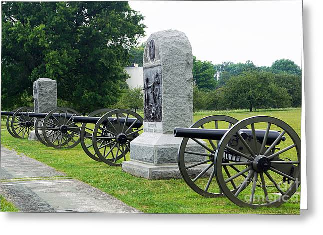 Cannons At Gettysburg Greeting Card
