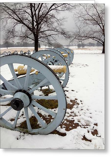 Cannon's In The Snow Greeting Card