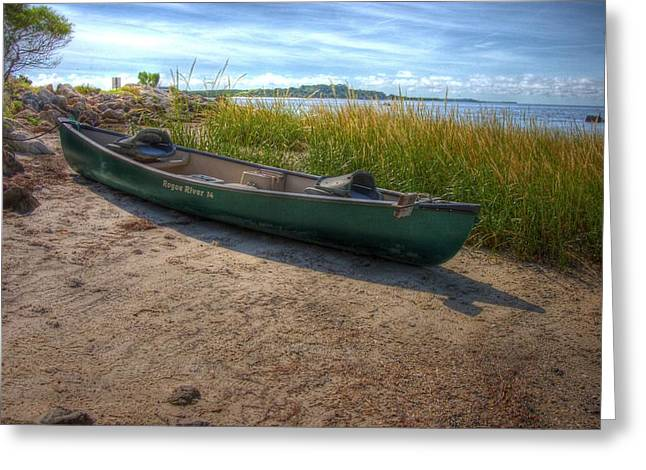 Canoe At Cedar Key Greeting Card by Donald Williams