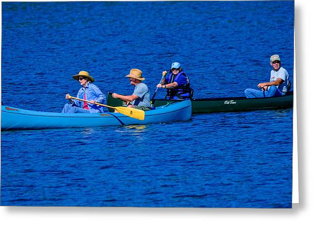 Canoe Couples Greeting Card by Brian Stevens