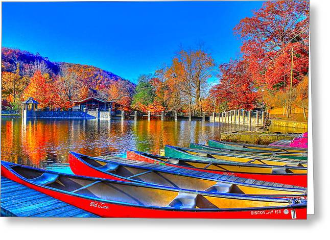 Canoe In Waiting Greeting Card