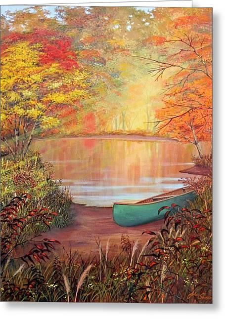 Canoe Landing  Greeting Card by John Samsen