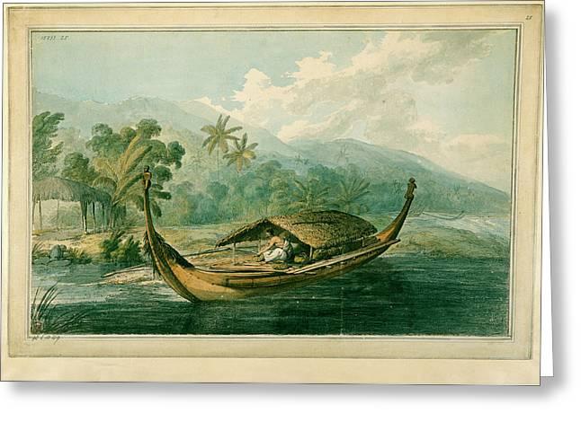 Canoe Of Raiatea Greeting Card