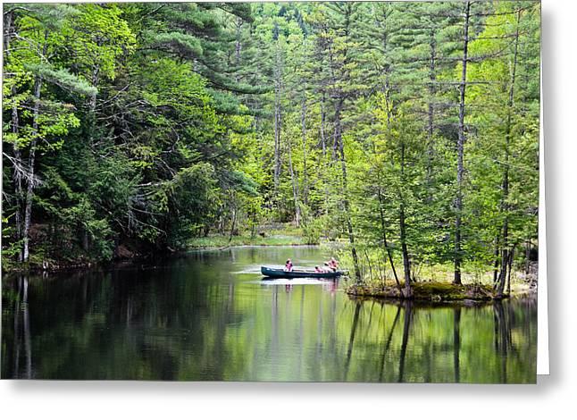 Canoe Ride Greeting Card