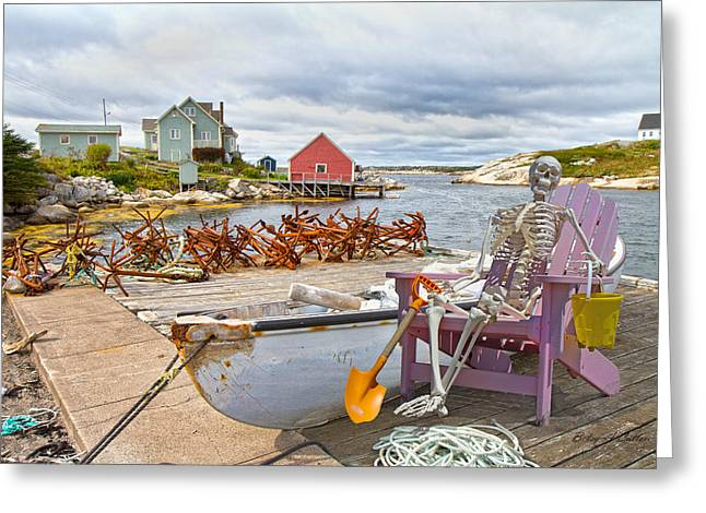 Canoe Rides For One Dollar Greeting Card by Betsy Knapp