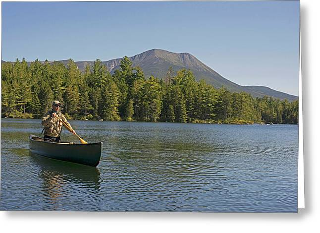 Canoeing In Baxter State Park On Kidney Greeting Card