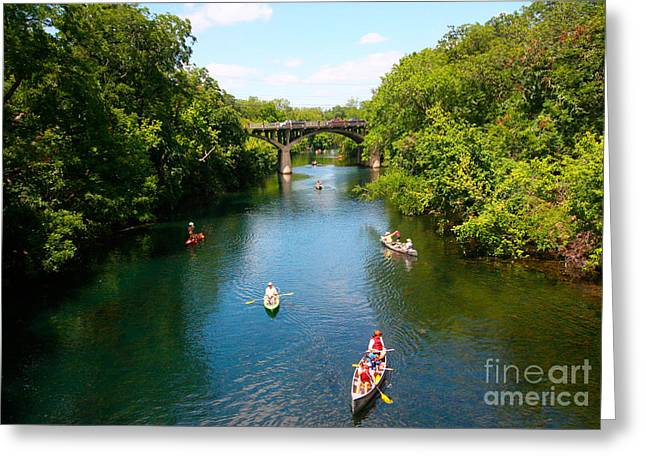 Canoeing The Springs Greeting Card