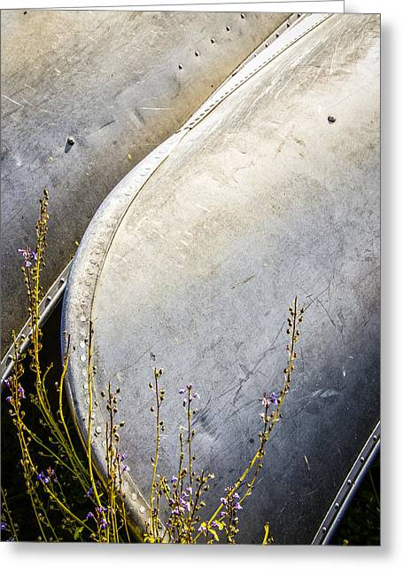 Canoes And Lavender Greeting Card