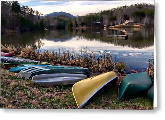Canoes In Nc Greeting Card