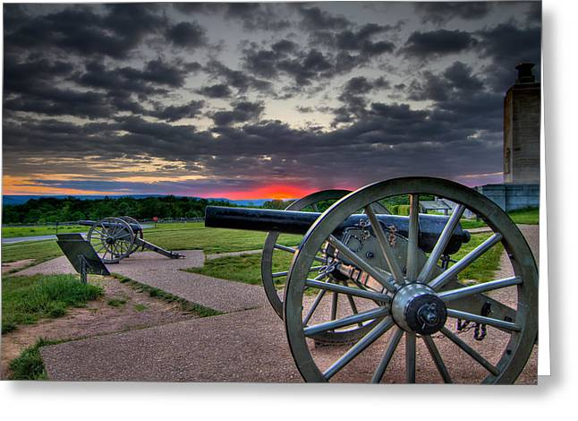 Canon over Gettysburg Greeting Card by Andres Leon
