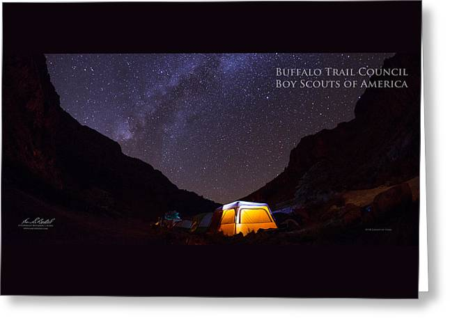 Canopy Of Stars - Pano Greeting Card