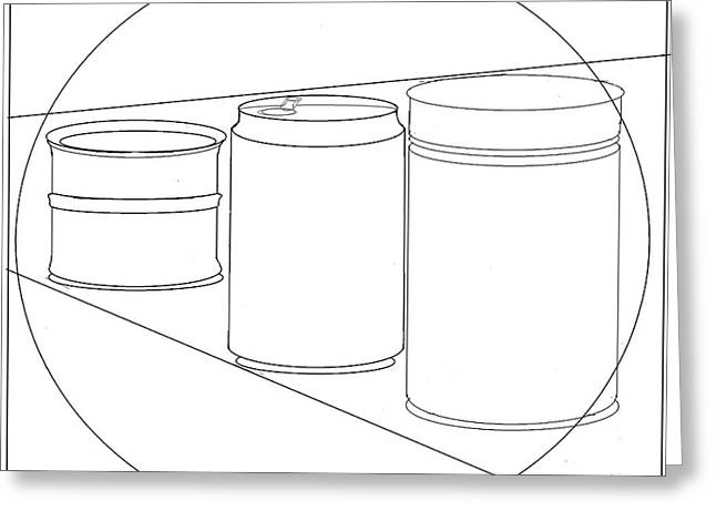 Cans Aid Recycling - Wallpaper Greeting Card