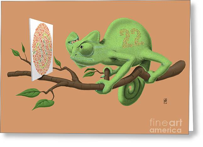 Can't See It Myself Colour Greeting Card by Rob Snow