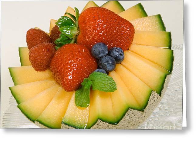 Cantaloupe Breakfast Greeting Card by Iris Richardson