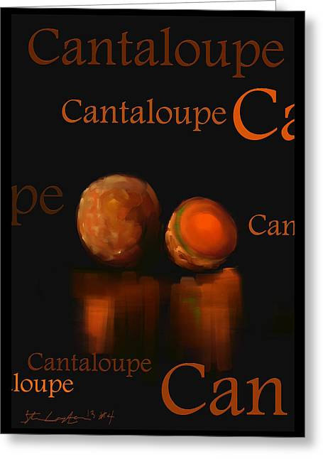 Cantaloupe - Fruit And Veggie Series - #4 Greeting Card by Steven Lebron Langston