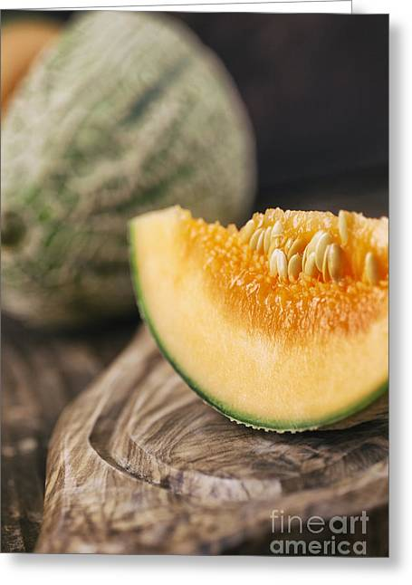 Cantaloupe Melon Greeting Card by Mythja  Photography