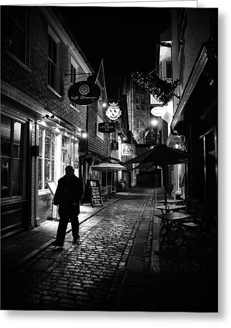 Canterbury At Night Greeting Card