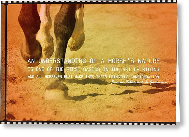Cantering Along Quote Greeting Card by JAMART Photography