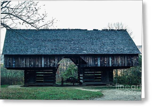 Cantilever Barn Greeting Card by Patrick Shupert