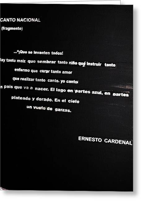 Canto Nacional  Greeting Card