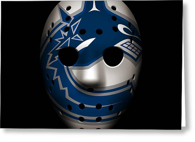 Canucks Goalie Mask Greeting Card
