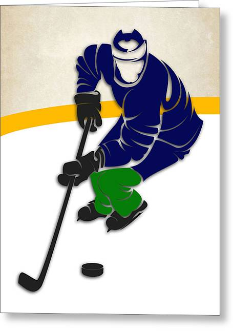 Canucks Hockey Rink Greeting Card by Joe Hamilton