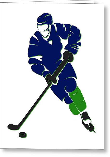 Canucks Shadow Player Greeting Card