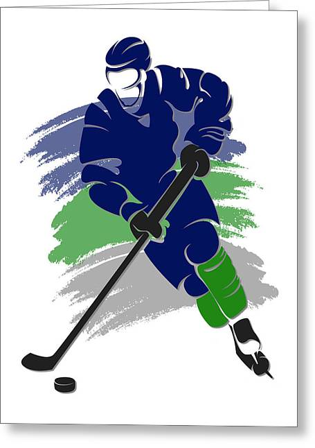 Canucks Shadow Player2 Greeting Card