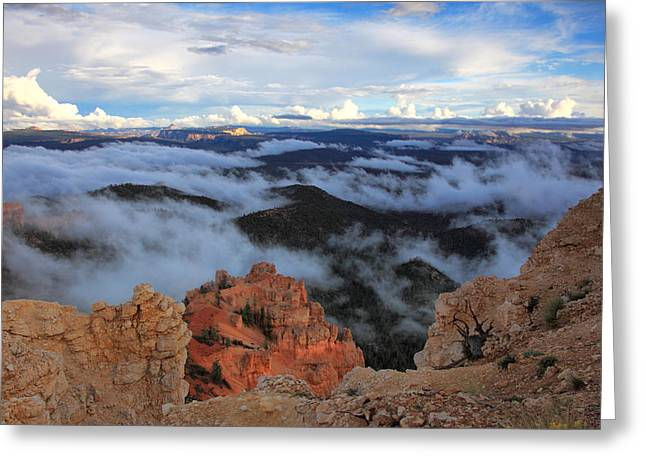 Canyon Clouds Greeting Card