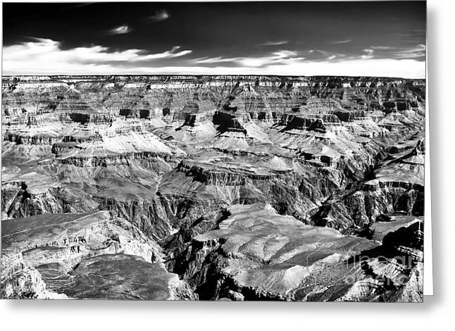 Canyon Craters Greeting Card by John Rizzuto