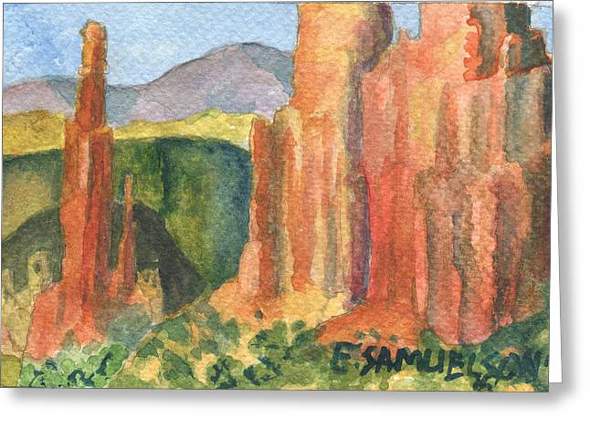 Canyon De Chelly Fantasy Greeting Card by Eric Samuelson