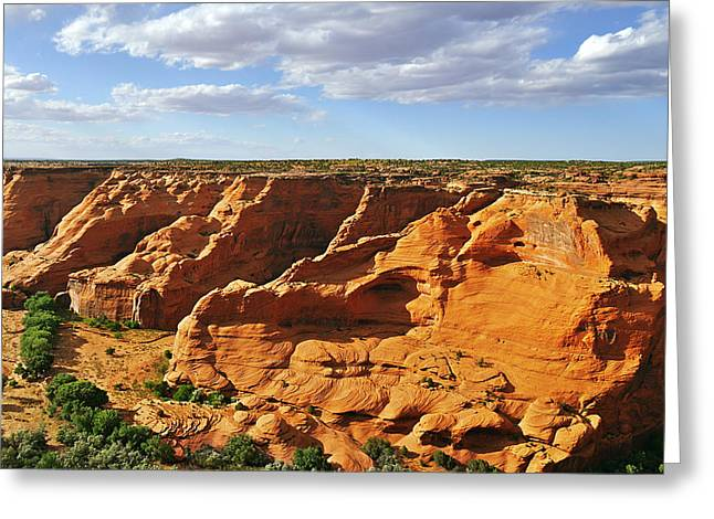 Canyon De Chelly From Face Rock Overlook Greeting Card by Christine Till