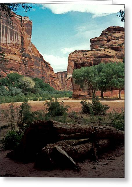 Canyon De Chelly National Monument 1993 Greeting Card by Connie Fox