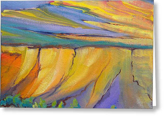 Canyon Dreams 33 Greeting Card by Pam Van Londen