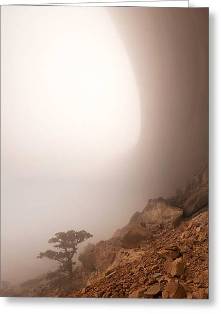 Canyon Fog Greeting Card by Dustin  LeFevre