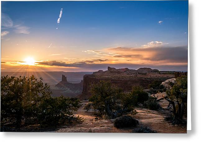 Canyon Lands Beautiful Sunset Greeting Card by Michael J Bauer