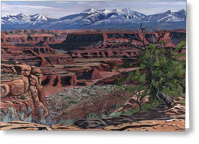 Canyon Lands Greeting Card by Timithy L Gordon