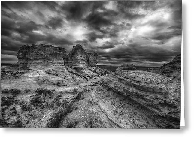 Canyon Light And Clouds Greeting Card by Garett Gabriel