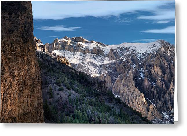 Canyon Light And Form Greeting Card by Leland D Howard