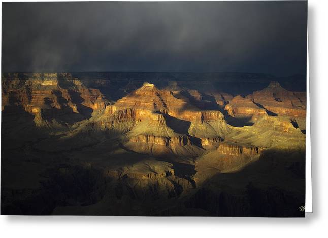 Canyon Light Greeting Card by Peter Coskun
