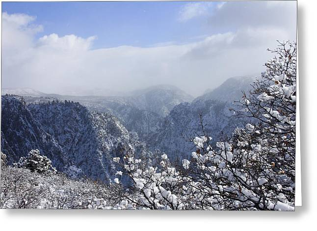 Canyon Mist Greeting Card