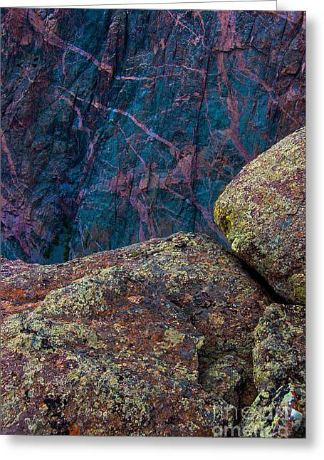 Canyon Rock Abstract Greeting Card