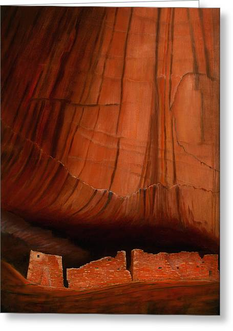 Canyon Ruins Greeting Card by Jerry McElroy