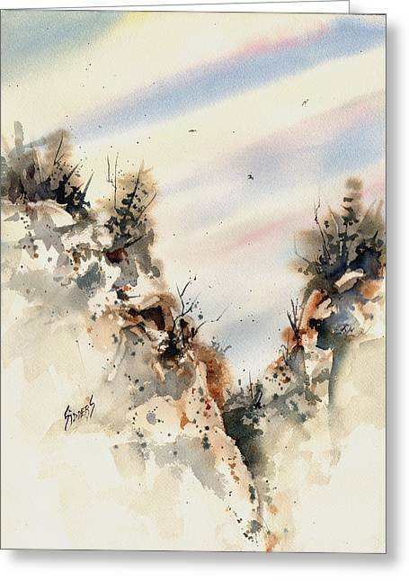 Canyon Greeting Card by Sam Sidders
