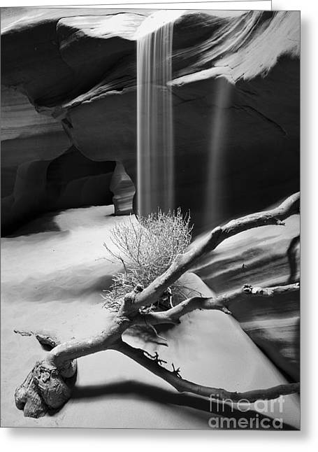 Greeting Card featuring the photograph Canyon Sandfall by Bryan Keil