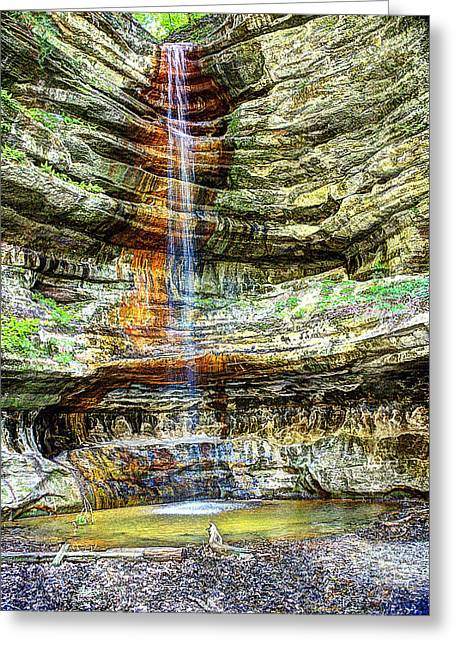Canyon Starved Rock State Park Greeting Card