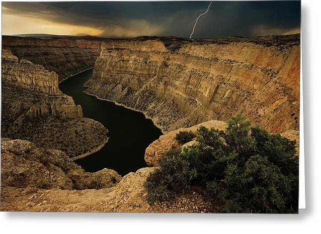 Canyon Storm Greeting Card