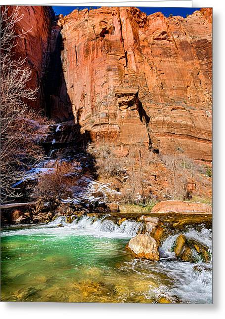 Canyon Stream Greeting Card by Christopher Holmes
