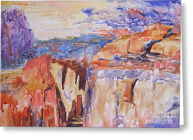 Greeting Card featuring the painting Canyon Suite by John Nussbaum